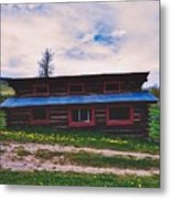 The Cockeyed Cabin Metal Print