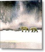 The Cold Walk Metal Print