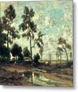 The Colliers' Hut In The Forest Of Fontainebleau Metal Print