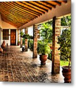 The Colonial House Metal Print
