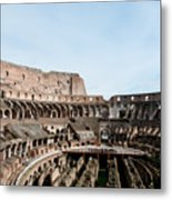 The Colosseum Colosseo Ruins Of The Gladiators Stadium Rome Italy Metal Print