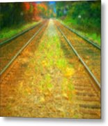 The Colour Along The Tracks Metal Print