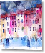 The Coloured Houses Of Portofino Metal Print