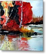The Colours Of Autum Definitely Red Metal Print