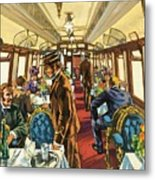 The Comfort Of The Pullman Coach Of A Victorian Passenger Train Metal Print