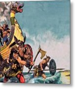 The Coming Of The Vikings Metal Print