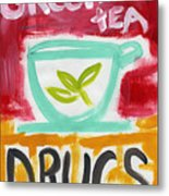 The Common Cure- Abstract Expressionist Art Metal Print