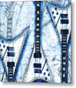 The Concorde Blueprint Metal Print