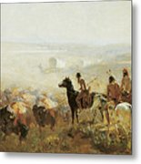 The Conquest Of The Prairie Metal Print by Irving R Bacon