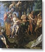The Contest Between Apollo And Pan, 1600 Metal Print