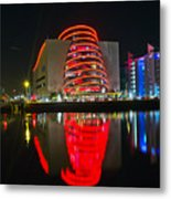 The Convention Centre Reflection Metal Print