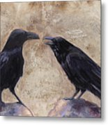 The Conversation Metal Print