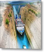 The Corinth Canal  Metal Print
