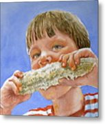 Andrew The Corn Eater Metal Print