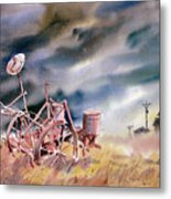The Corn Planter Metal Print