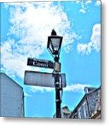 The Corner Of Conti Metal Print