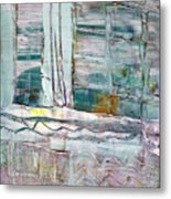 The Corner Window Metal Print
