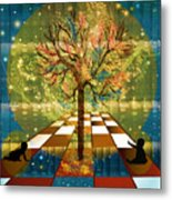 The Cosmic Tree Metal Print