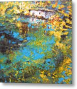 The Cottage By The Lagoon Metal Print