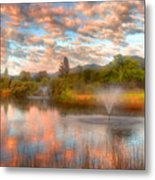 The Cotton Candy Sky Metal Print