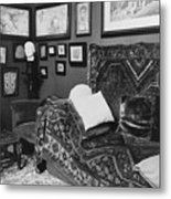 The Couch In The Consulting Room Metal Print