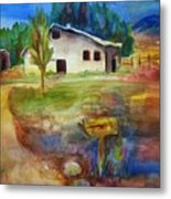 The Country Barn Metal Print