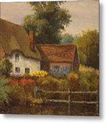 The Country Cottage Metal Print