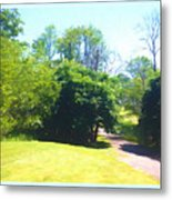 The Country Lane In Spring Time Metal Print