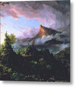 The Course Of Empire - The Savage State Metal Print by Thomas Cole