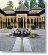 The Court Of The Lions Alhambra Spain Metal Print