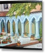 The Court Yard Metal Print