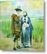 The Courtship Of Miles Standish Metal Print