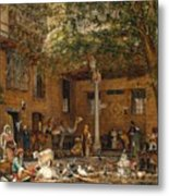 The Courtyard Of The Coptic  Metal Print