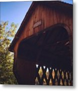 The Covered Bridge Metal Print
