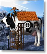 The Cow House Metal Print