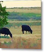 The Cows Next Door Metal Print