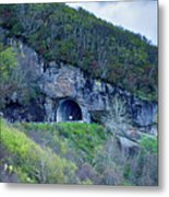 The Craggy Pinnacle Tunnel On The Blue Ridge Parkway In North Ca Metal Print