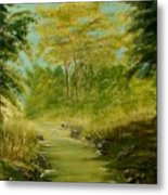 The Creek Metal Print