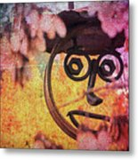 The Creepy All Seeing Bolted Dude Metal Print