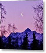 The Crescent Moon In Lavender Metal Print