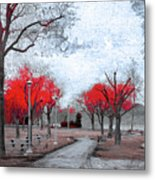 The Crimson Trees Metal Print