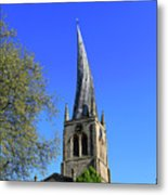 The Crooked Spire Of St Mary And All Saints Church, Chesterfield Metal Print