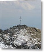 The Cross At Shipka Metal Print