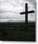 The Cross Metal Print by Oliver Johnston