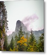 The Cross On The Top Of The Mountain Metal Print