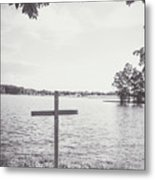 The Cross On The Water Metal Print