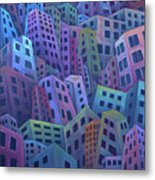 The Crowded City Metal Print