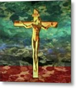 The Crucific Pop Art By Mary Bassett Metal Print