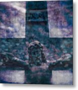 the Crucifixion of Jesus Metal Print