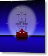 The Crucifixion On The Sea Metal Print